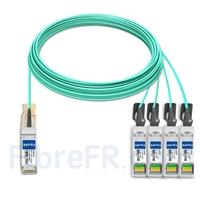 Image de 30m Brocade 40G-QSFP-4SFP-AOC-3001 Compatible Câble Optique Actif Breakout QSFP+ 40G vers 4 x SFP+