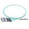 Image de 1m Extreme Networks 10GB-4-F01-QSFP Compatible Câble Optique Actif Breakout QSFP+ 40G vers 4 x SFP+