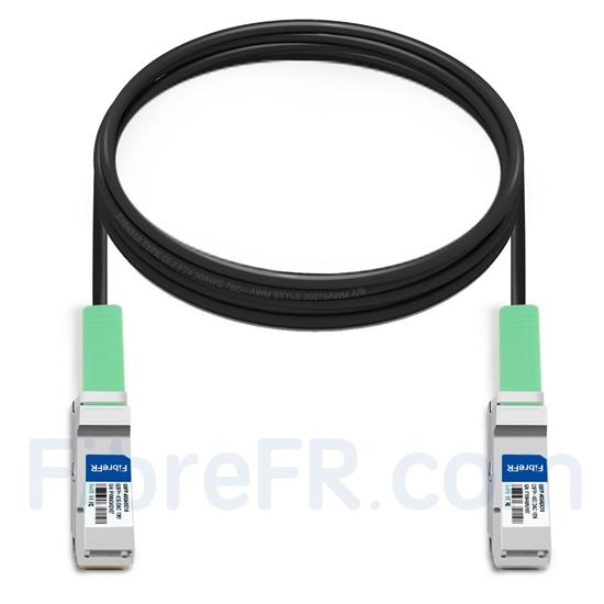 Image de 10m Brocade 40G-QSFP-QSFP-C-1001 Compatible Câble à Attache Directe en Cuivre Actif 40G QSFP+