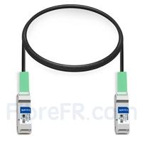 Image de 1m Dell (DE) Networking 331-8158 Compatible Câble à Attache Directe en Cuivre Passif 40G QSFP+