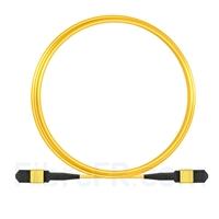 Image de 5m Senko MPO Femelle 12 Fibres OS2 9/125 Câble Trunk Monomode, Type B, Élite, LSZH, Jaune