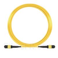 Image de 15m MTP-MTP Câble Femelle 12 Fibres OS2 9/125 Monomode, Type A, Plénum (OFNP), Élite, Jaune