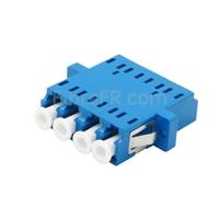 Image de Adaptateur à Fibre Optique/Manchon d'Accouplement Plastique LC/UPC vers LC/UPC Quad Monomode avec Bride
