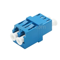 Image de Adaptateur à Fibre Optique/Manchon d'Accouplement LC/UPC vers LC/UPC Monomode Duplex avec Bride