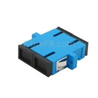 Image de Adaptateur à Fibre Optique/Manchon d'Accouplement Plastique SC/UPC vers SC/UPC Duplex Monomode avec Bride