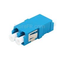 Image de Adaptateur à Fibre Optique/Manchon d'Accouplement Plastique LC/UPC vers LC/UPC, Type SC Monomode Duplex avec Bride