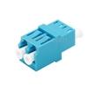 Image de Adaptateur à Fibre Optique/Manchon d'Accouplement LC/UPC vers LC/UPC Multimode OM3/OM4 Duplex avec Bride