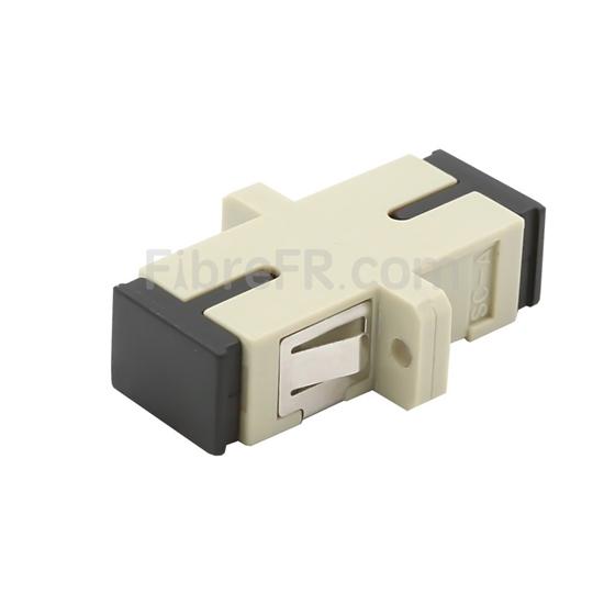Image de Adaptateur à Fibre Optique/Manchon d'Accouplement Plastique SC/UPC vers SC/UPC Multimode OM1/OM2 Simplex avec Bride