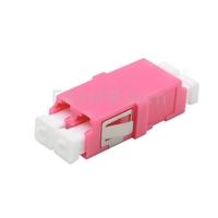 Image de Adaptateur à Fibre Optique/Manchon d'Accouplement Plastique LC/UPC vers LC/UPC, Type SC 10G Multimode OM4 Duplex avec Bride, Violet
