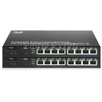 Image de 8x10/100/1000Base-T RJ45 ~ 2x1000Base-X SFP Rainure SC Unmanaged Gigabit Ethernet Media Converter, Simplex, 1310nm/1550nm,20km