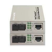Image de 1x10/100Base-T RJ45 vers 1x100Base-X SFP Rainure SC Non géré Gigabit Ethernet Media Converter, Simplex, 1310nm/1550nm, 20km