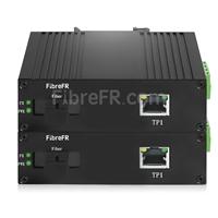 Image de 1x10/100/1000Base-T RJ45 vers 1xConvertisseur de média Ethernet Gigabit non géré SFP 1000Base-X, Simplex, 1310nm/1550nm, 20km industriel