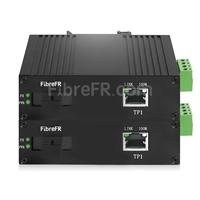 Image de Mini 2x10/100/1000Base-T RJ45 vers 1x 1000Base-X SFP Rainure SC Non géré Gigabit Ethernet Media Converter, Simplex, 1310nm/1550nm, 20km, Industrial