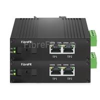 Image de Mini 4x10/100/1000Base-T RJ45 vers 1x1000Base-X SFP Rainure SC Non géré Gigabit Ethernet Media Converter, Simplex, 1310nm/1550nm, 20km, Industrial