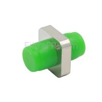 Image de Adaptateur à Fibre Optique/Manchon d'Accouplement Métallique FC/APC vers FC/APC, Type Carré Monobloc Solide, Simplex Monomode avec Bride