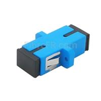Image de Adaptateur à Fibre Optique/Manchon d'Accouplement Plastique SC/UPC vers SC/UPC Simplex Monomode avec Bride