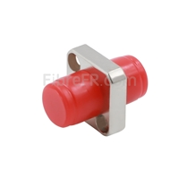 Image de Adaptateur à Fibre Optique/Manchon d'Accouplement Métallique FC/UPC vers FC/UPC, Type Carré Monobloc Solide, Simplex Monomode/Multimode avec Bride
