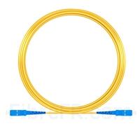 Image de 20M(66ft)1550nm SC UPC Simplex Axe Lent PVC-3.0mm Monomode (OFNR) 3,0 mm Polarisation Maintenant le Câble de Raccordement à Fibre Optique