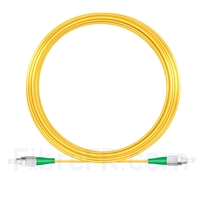 Image de 20M(66ft)1310nm FC APC Simplex Axe Lent PVC-3.0mm Monomode (OFNR) 3,0 mm Polarisation Maintenant le Câble de Raccordement à Fibre Optique