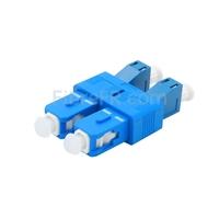 Image de Adaptateur à Fibre Optique/Manchon d'Accouplement Plastique LC/UPC Femelle vers SC/UPC Mâle Duplex Monomode