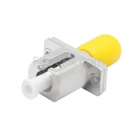 Image de Adaptateur à Fibre Optique/Manchon d'Accouplement Métallique ST vers LC Hybride Simplex, Femelle vers Femelle