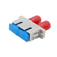 Image de Adaptateur à Fibre Optique/Manchon d'Accouplement Métallique ST-SC Hybride Duplex, Femelle vers Femelle