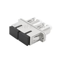 Image de Adaptateur à Fibre Optique/Manchon d'Accouplement Métallique LC-SC Hybride Duplex SM/MM, Femelle vers Femelle