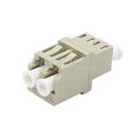 Image de Adaptateur à Fibre Optique/Manchon d'Accouplement LC/UPC vers LC/UPC Multimode OM1/OM2 Duplex avec Bride