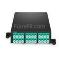Image de Cassette MTP® FHD avec 24 Fibres OM4 Multimode, 2x MTP®-12 vers 12x LC Duplex, Type A