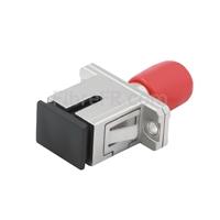 Image de Adaptateur à Fibre Optique/Manchon d'Accouplement Métallique ST-SC Hybride Simplex Monomode, Femelle vers Femelle